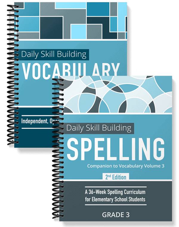 Daily Skill Building: Vocabulary and Spelling Grade 3 Bundle