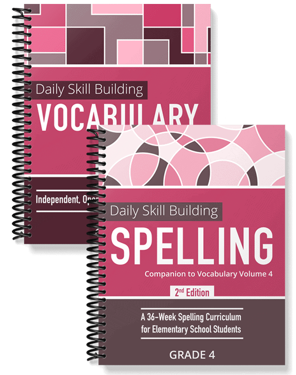 Daily Skill Building: Vocabulary and Spelling Grade 4 Bundle