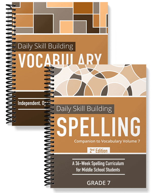 Daily Skill Building: Vocabulary and Spelling Grade 7 Bundle