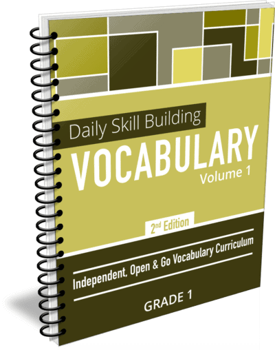 Daily Skill Building: Vocabulary - Grade 1 Second Edition