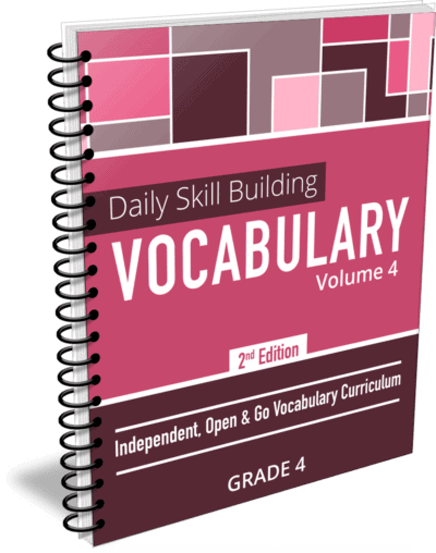 Daily Skill Building: Vocabulary - Grade 4 Second Edition