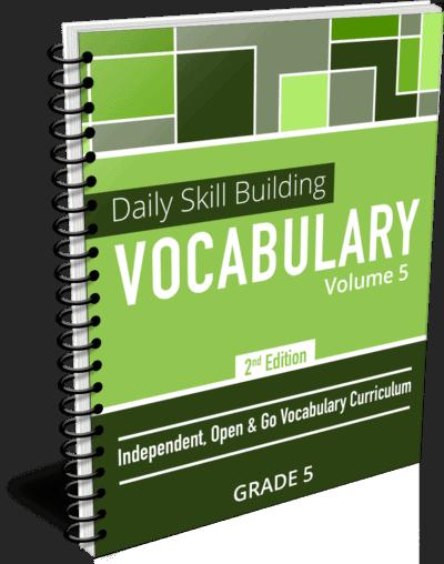 Daily Skill Building: Vocabulary - Grade 5 Second Edition