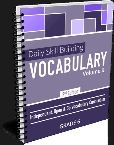 Daily Skill Building: Vocabulary - Grade 6 Second Edition