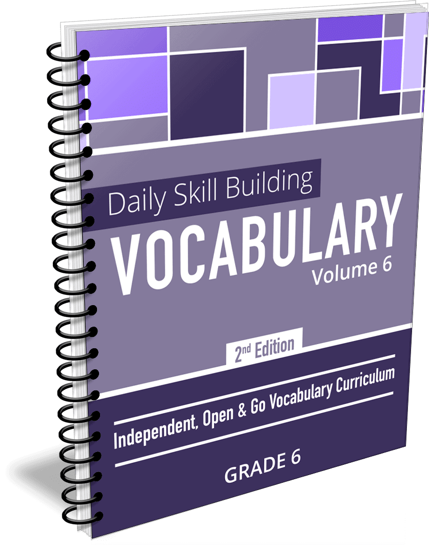 Daily Skill Building: Vocabulary - Grade 6 Second Edition
