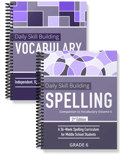 Daily Skill Building: Vocabulary and Spelling Grade 6 Bundle
