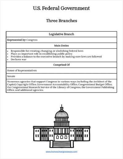 U.S. Government Anchor Charts & Workbook