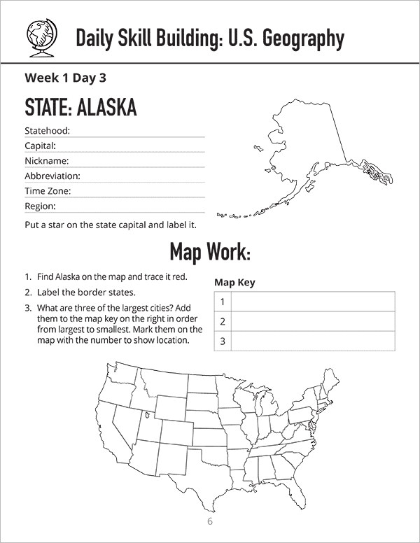 Daily Skill Building: U.S. Geography
